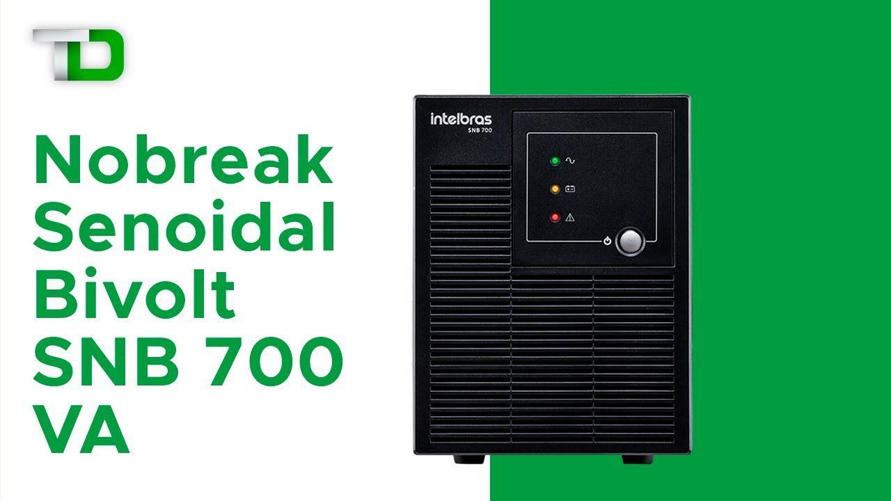 Nobreak senoidal 6 tomadas 8 níveis de proteção intelbras SNB 700 VA bivolt - JS Soluções em Segurança