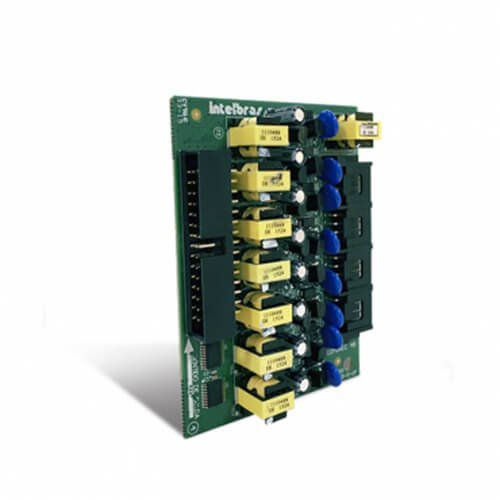 Placa de 8 ramais Balanceada para COMUNIC 16 e COMUNIC 48 - JS Soluções em Segurança