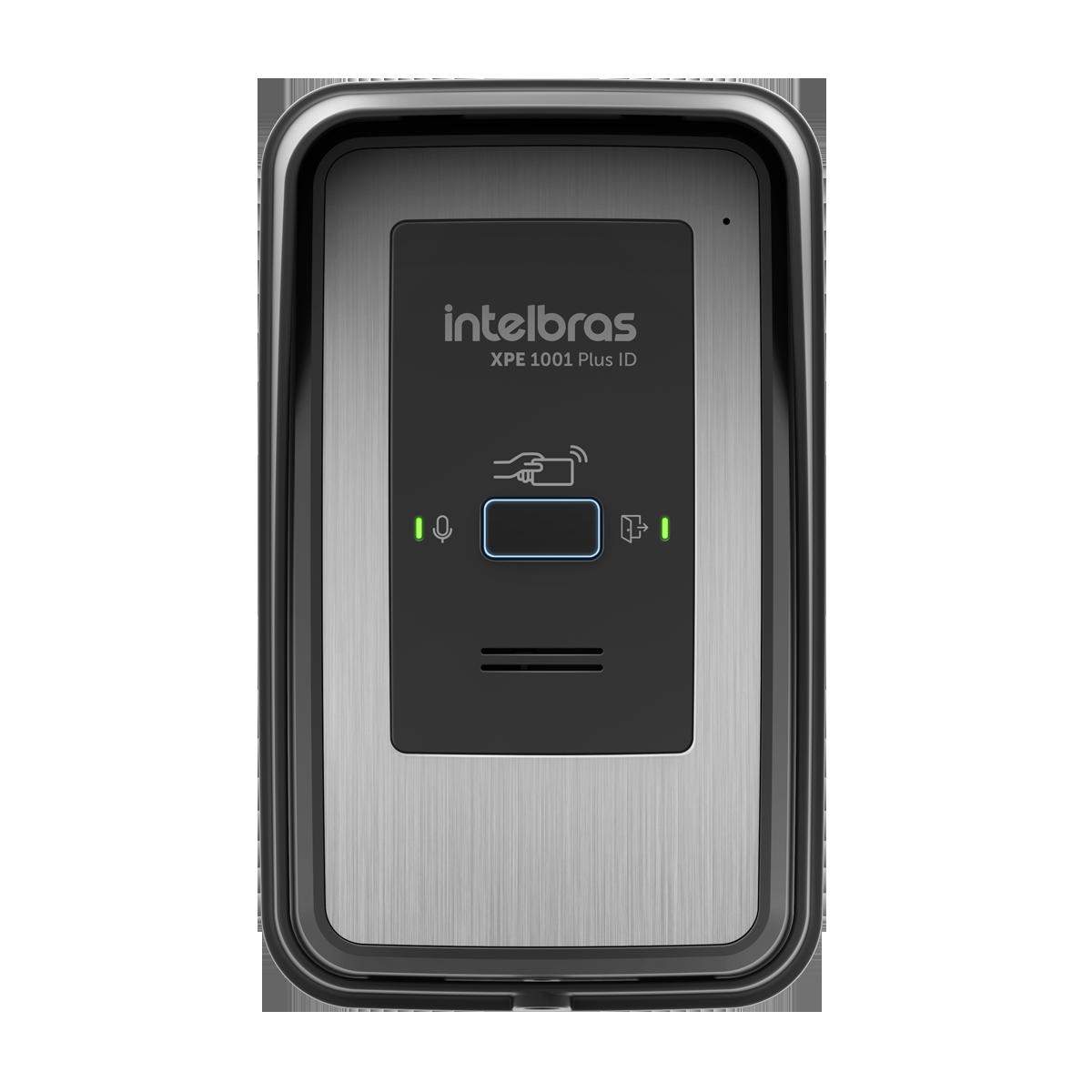 Porteiro eletrônico terminal dedicado de tecla única com função RFID intelbras XPE 1001 PLUS ID - JS Soluções em Segurança