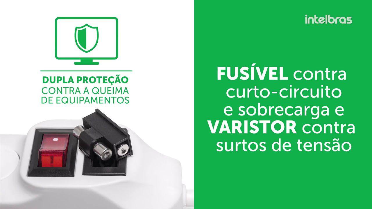 Protetor eletrônico filtro 4 tomadas intelbras EPE 1004 - JS Soluções em Segurança