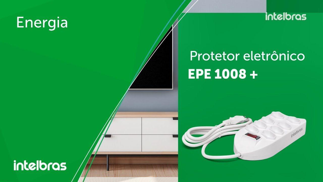 Protetor eletrônico filtro 8 tomadas intelbras EPE 1008+ - JS Soluções em Segurança