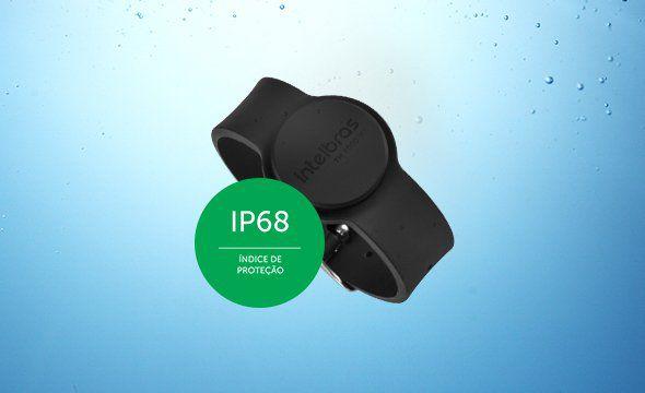 Pulseira acionada por aproximação 13,56MHz RFID IP68 intelbras TH 4000 MF  - JS Soluções em Segurança