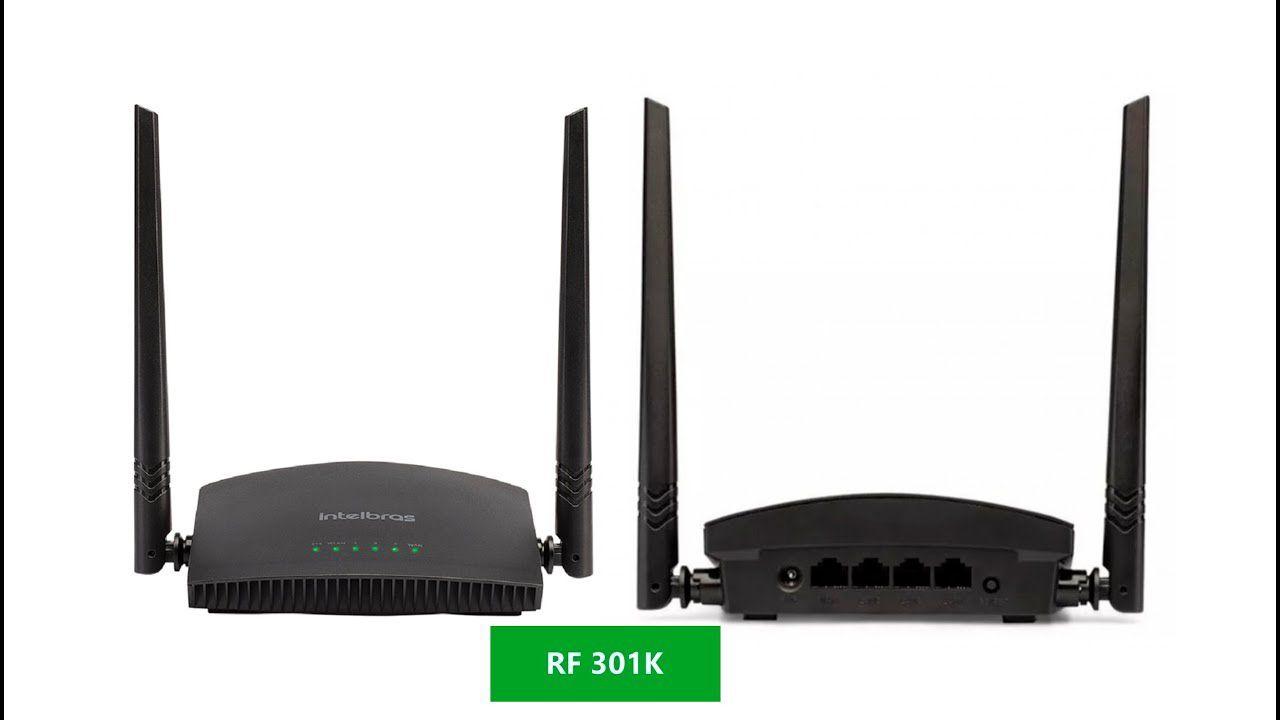 Roteador intelbras 2 antenas Wi-Fi N 300 Mpbs RF 301K  - JS Soluções em Segurança