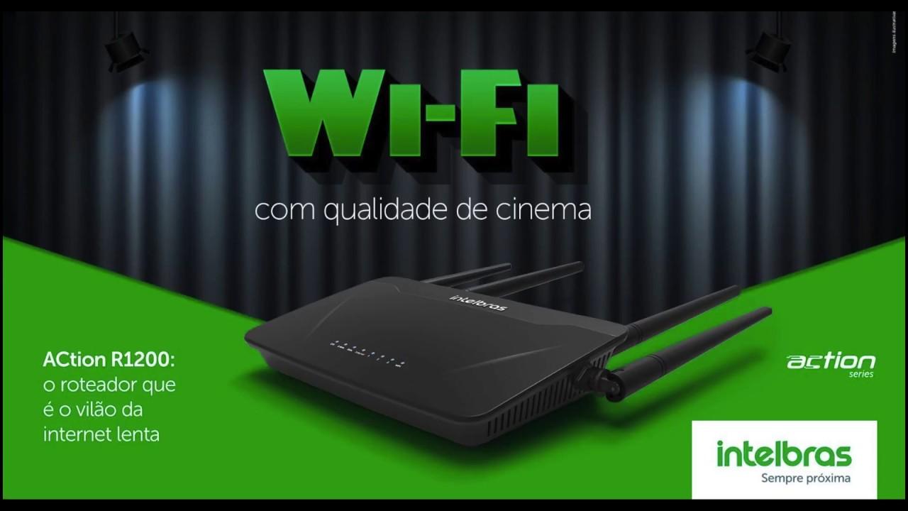 Roteador wireless smart dual band conexão ultra veloz acesso controlado Intelbras ACtion RF 1200 - JS Soluções em Segurança