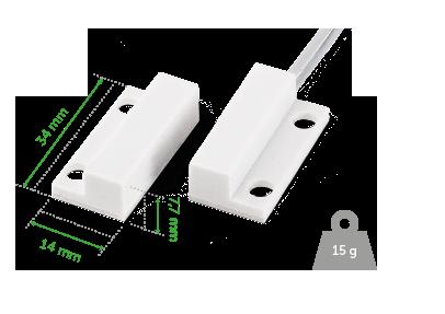 Sensor de abertura de sobrepor com fio para portas e janelas INTELBRAS XAS de Sobrepor - JS Soluções em Segurança