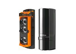 Sensor de barreira infravermelho ativo com fio intelbras 3 feixes 100mts IVA 9100 TRI - JS Soluções em Segurança