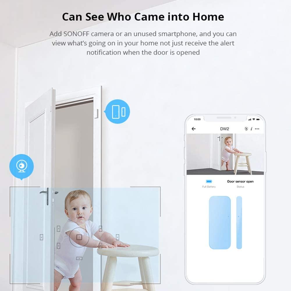 Sensor de janela de porta sem fio SONOFF DW2-Wi-Fi - JS Soluções em Segurança