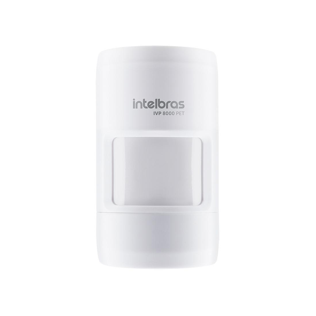 Sensor de movimento infra vermelho sem fio 12mts 90° 20 kg 915 MHz a 928 MHz intelbras IVP 8000 PET  - JS Soluções em Segurança