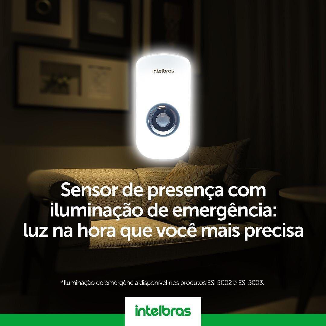 Sensor de presença com iluminação LED 3mts intelbras ESI 5001 - JS Soluções em Segurança