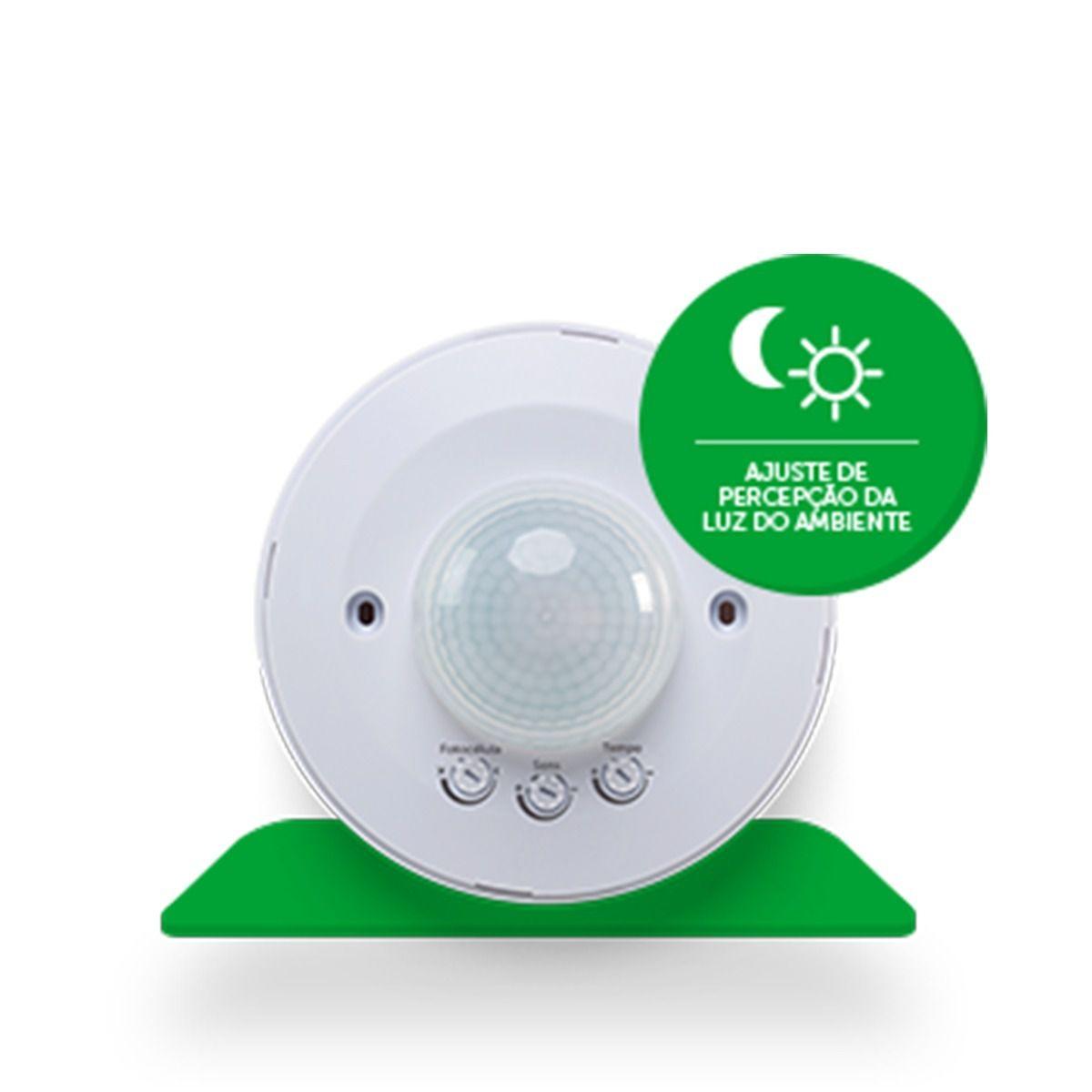 Sensor de presença para iluminação fotocélula 18mts 360° intelbras ESP 360 + - JS Soluções em Segurança
