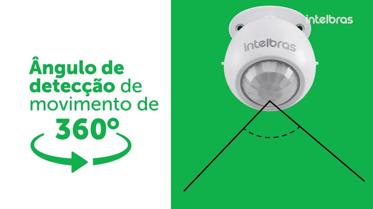 Sensor de presença para iluminação fotocélula 5mts 360° intelbras ESP 360 A - JS Soluções em Segurança