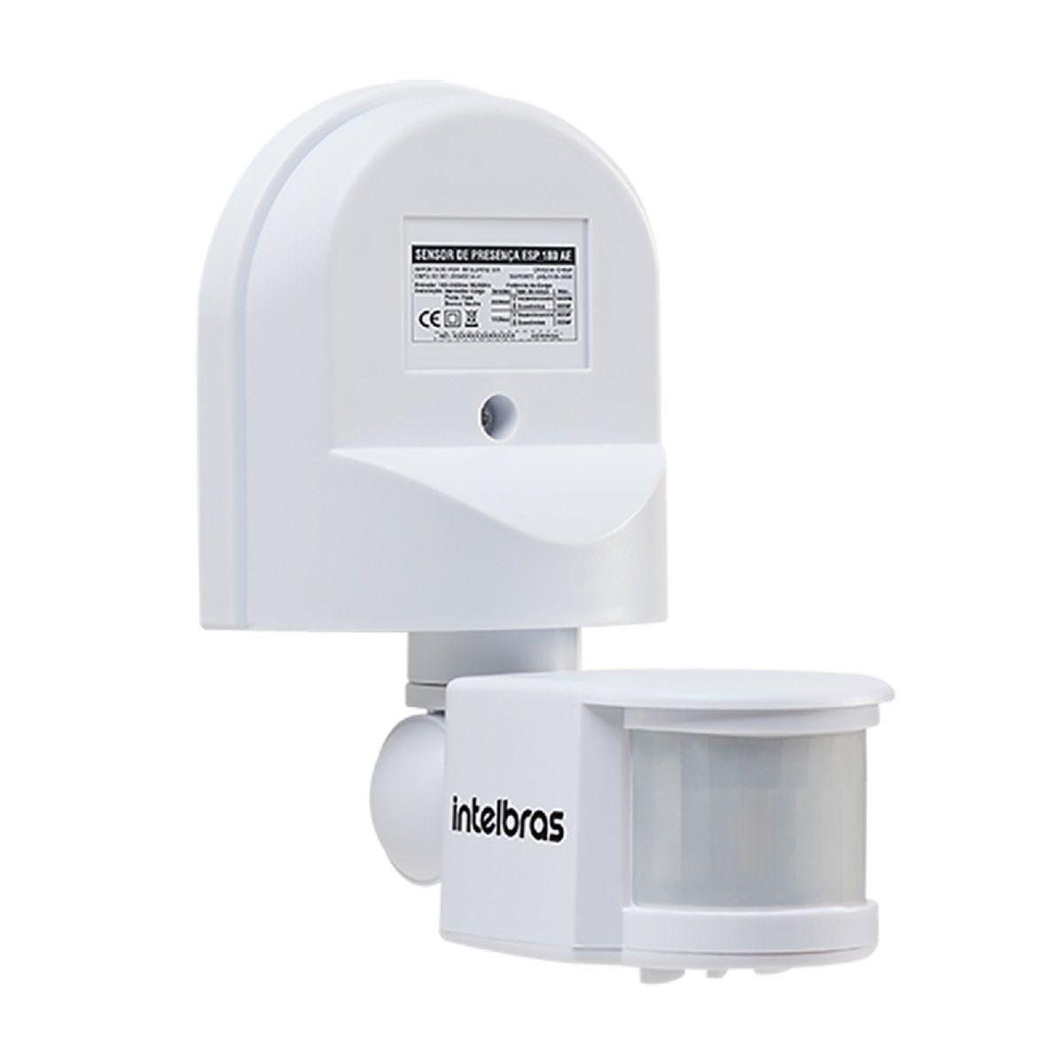 Sensor de presença para iluminação intelbras ESP 180 AE  - JS Soluções em Segurança
