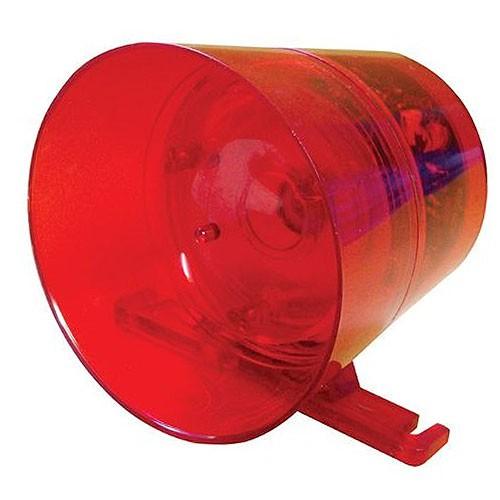 Sirene audío visual Acrílica vermelha c/ led GLK - JS Soluções em Segurança