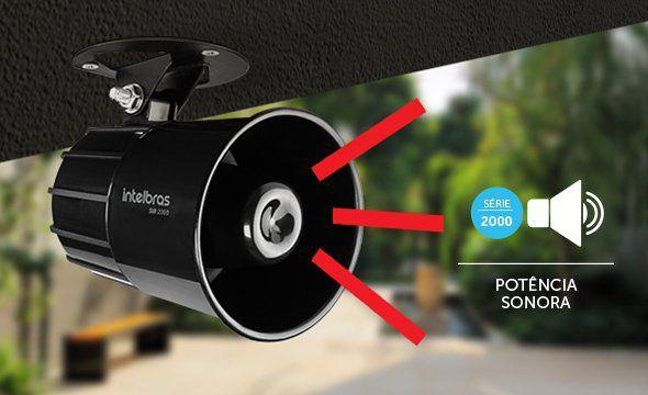 Sirene com fio 9 a 15 volts 120 decibeis intelbras SIR 3000 - JS Soluções em Segurança