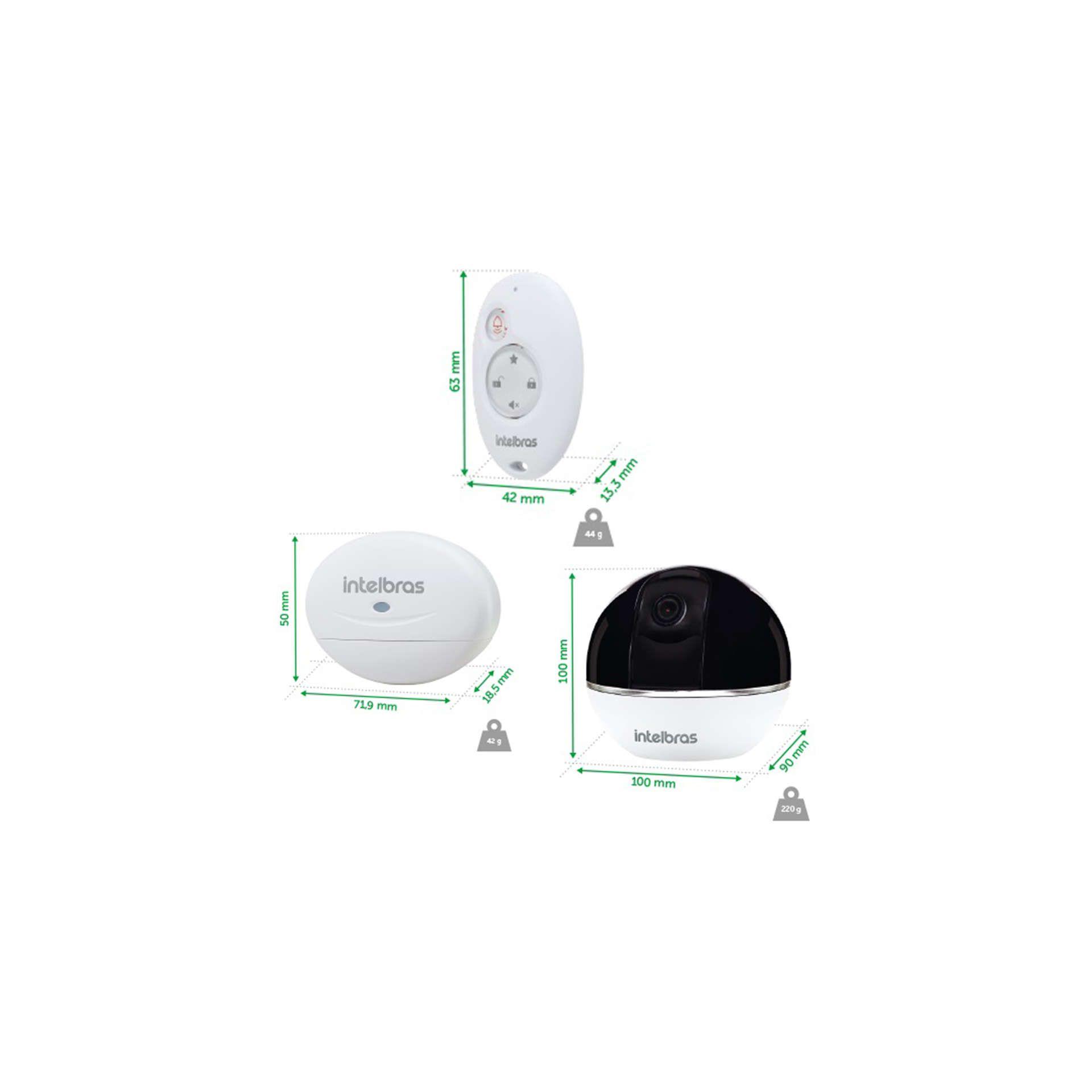 Sirene para alarme integrado e aplicativo Mibo iC7 intelbras  - JS Soluções em Segurança