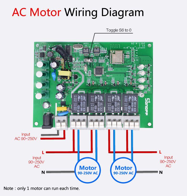 Sonoff 4 Canais Rev2 Interruptor Wifi Automação Smart RF 433,92Mhz Sonoff Pro - JS Soluções em Segurança