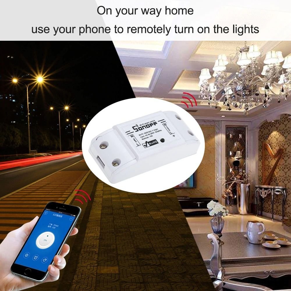 Sonoff Interruptor Wifi basic Automação Residencial bivolt 10A 2200W - JS Soluções em Segurança