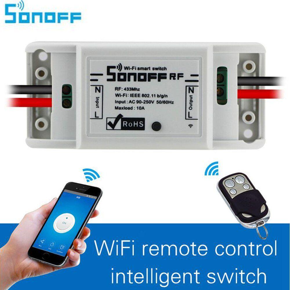 Interruptor Wifi Automação 1 canal 10A 2200W Sonoff R2 RF 433Mhz - JS Soluções em Segurança