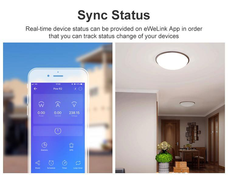 Interruptor inteligente Wifi de consumo energia 1 canal 15A 3500W  Sonoff Pow R2 - JS Soluções em Segurança