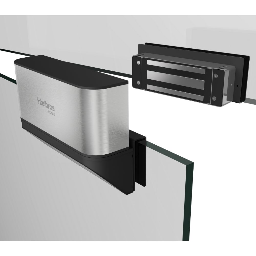 Suporte para fechadura eletroímã FE 21150 D para portas de Vidro - SV 21150 D - JS Soluções em Segurança