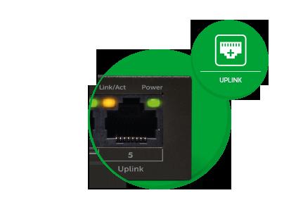 Switch 5 portas Fast com 4 portas PoE intelbras SF 500 PoE  - JS Soluções em Segurança