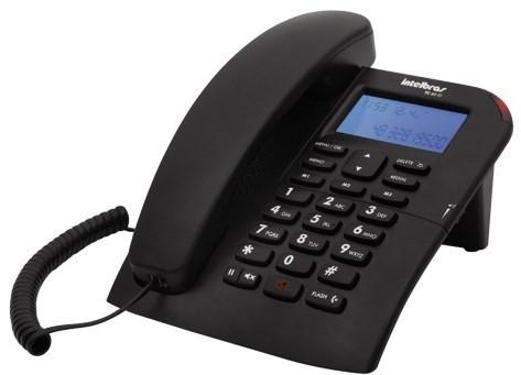 Telefone com fio com identificação de chamadas e viva-voz Intelbras TC 60 ID - JS Soluções em Segurança