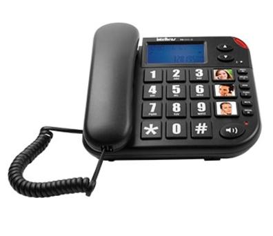 Telefone com fio com teclas grandes Intelbras ToK Fácil ID - JS Soluções em Segurança