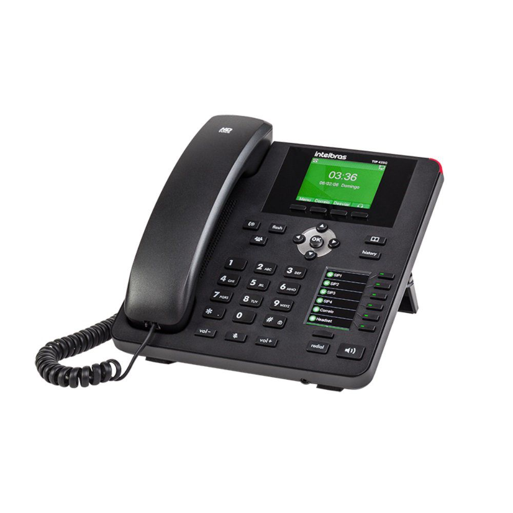 Telefone IP Gigabit PoE TIP 435G INTELBRAS - JS Soluções em Segurança