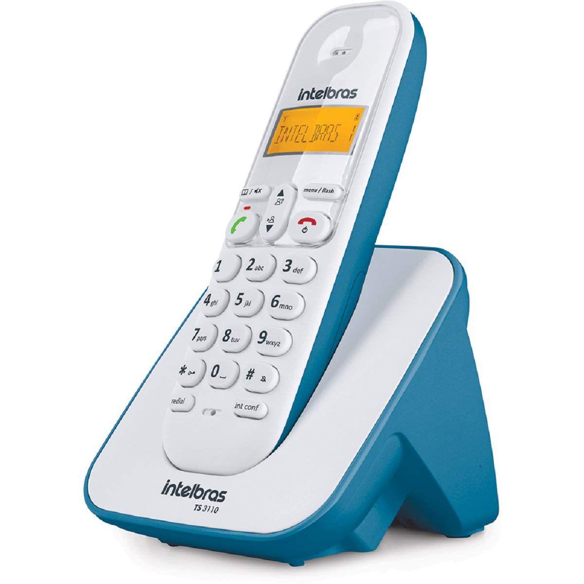 Telefone sem fio digital com identificador e visor luminoso intelbras TS 3110 - JS Soluções em Segurança