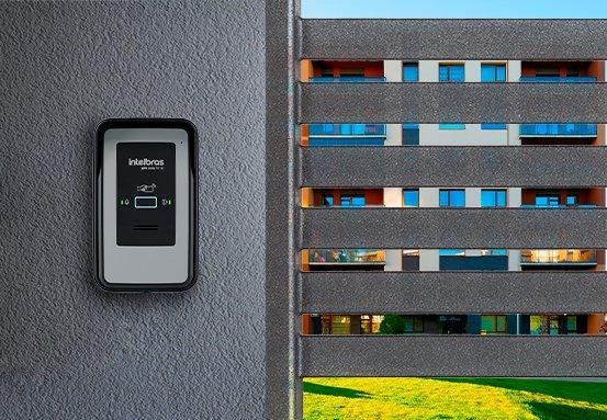 Terminal Dedicado porteiro eletrônico com RFID Intelbras XPE 1001 FIT ID - JS Soluções em Segurança