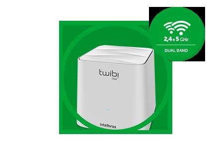KIT TWIBI GIGA ROTEADOR 2.4 GHz: até 300 Mbps 5 GHz: até 867 Mbps Wi-Fi forte Mesh intelbras até 1000 Mbps - JS Soluções em Segurança