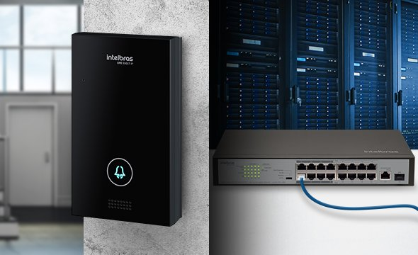 Vídeo Porteiro IP 12V ou PoE 802.3af XPE 3001T IP Intelbras - JS Soluções em Segurança