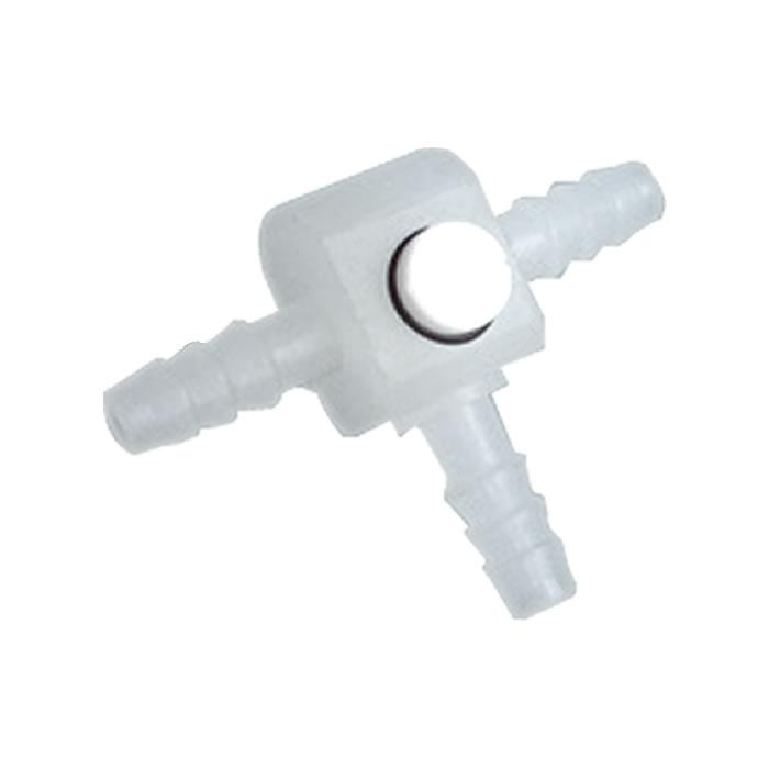 Torneira Reta 3 vias em Polipropileno Plug com Teflon