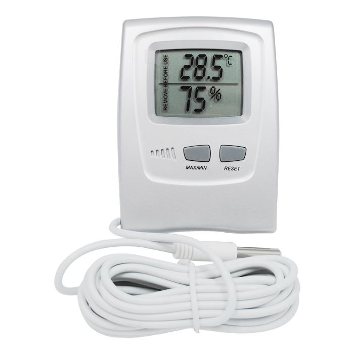 Termohigrômetro Digital -50+70ºC com Cabo