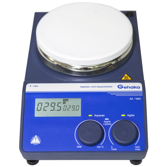 Agitador Magnético com Aquecimento até 340ºC AA-1840  -  220V