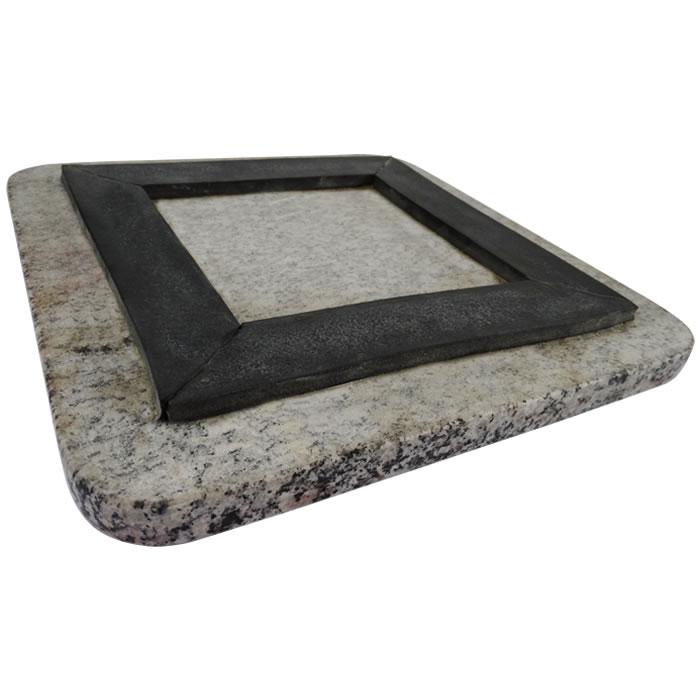 Mesa Anti-Vibratória para Balança em Granito Polido Pequena 31x31 cm