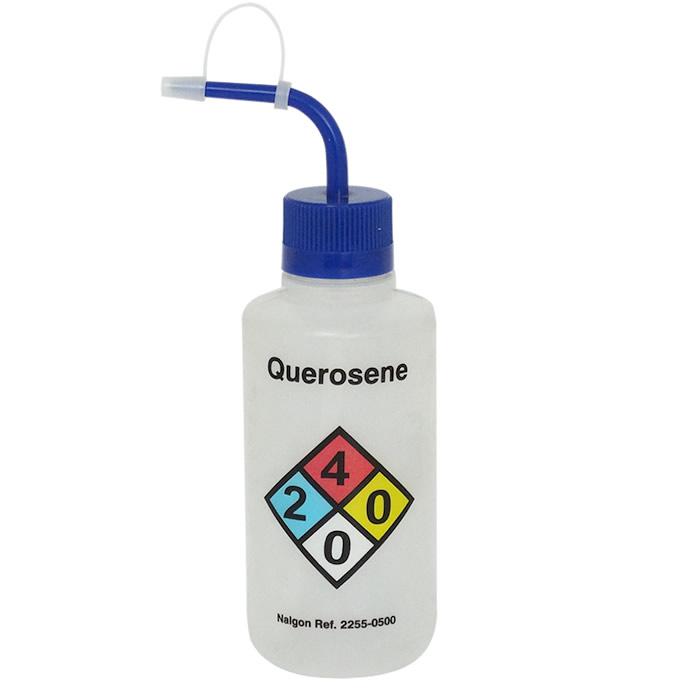 Pisseta em Polietileno 500mL para Querosene Com Classificação de Risco