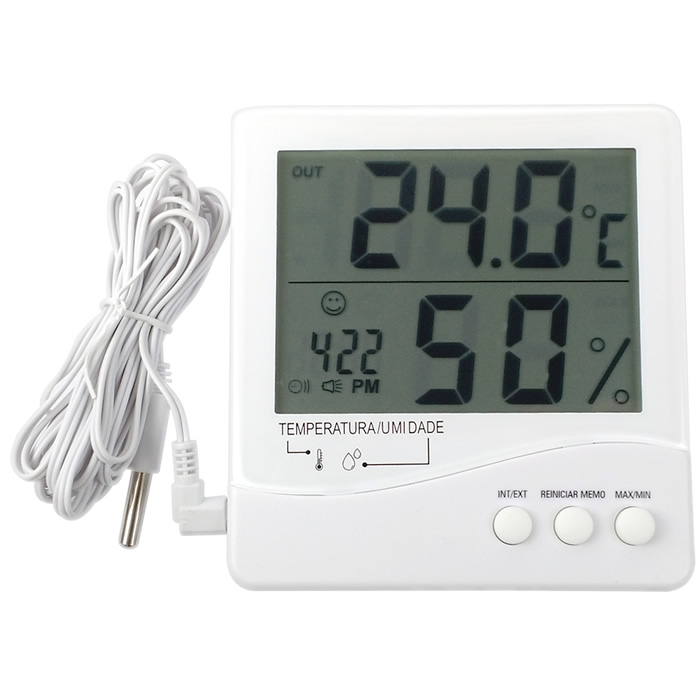 Termohigrômetro Digital -50+70ºC com Cabo 3 metros Ref. 7663.02.0.00