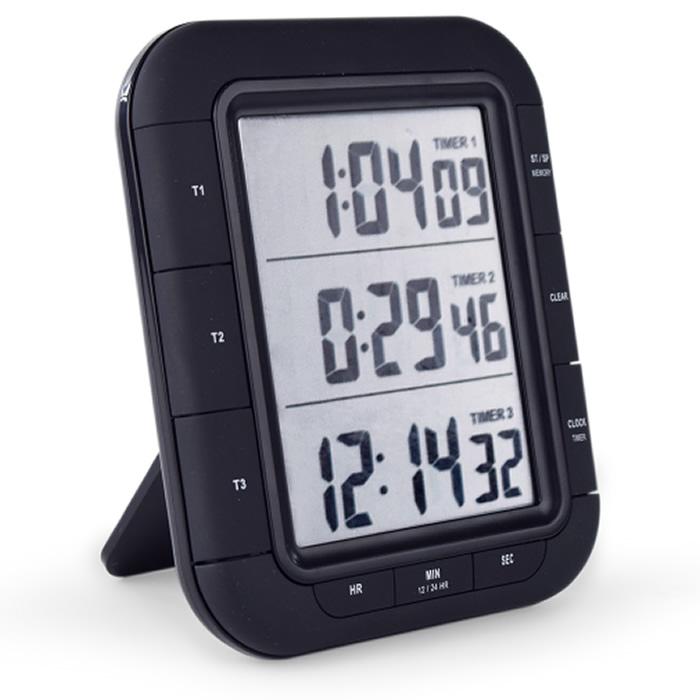 Timer Digital 3 Tempos Independentes Ref. T-TIM-0020.00