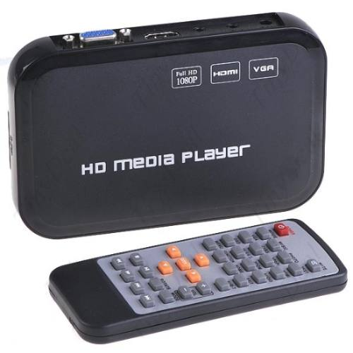 Full Hd Media Player Com Hdmi - Rmvb Divx Mkv H264 Flv 1080p - RPC-COMMERCE