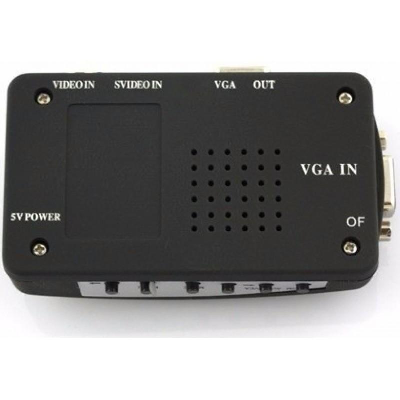 Conversor De Vídeo Rca/svideo/componente/tv Para Vga - RPC-COMMERCE