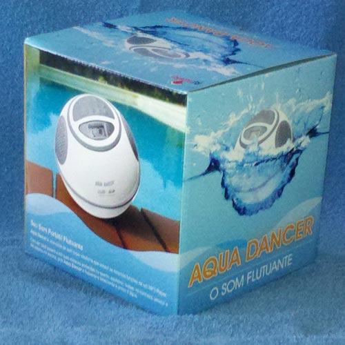 Aqua Dancer - Rádio, Relógio, MP3 Player, com visor LCD a prova d´água - RPC-COMMERCE