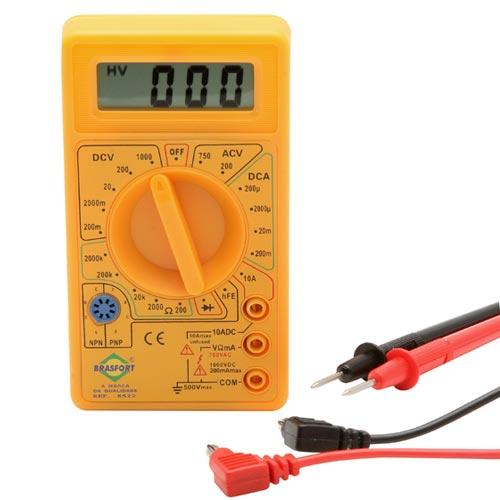 Multímetro Digital DT830B Com Cabo De Multi teste e Bateria  - RPC-COMMERCE