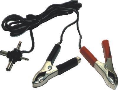 Cabo com garras jacaré para bateria + 4 adaptadores (2 plugs P4, plug P1,  plug P2) - RPC-COMMERCE