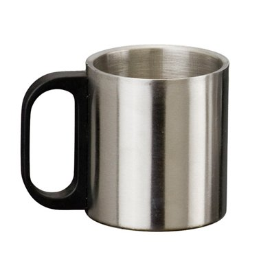 Caneca de Inox 200 mL com tampa - RPC-COMMERCE