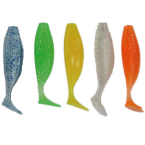 Kit com 5 iscas tipo shad 10 cm sem anzol - RPC-COMMERCE