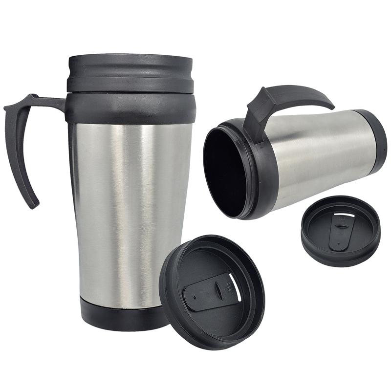 Caneca Mug térmica de Inox 400 mL com tampa - RPC-COMMERCE