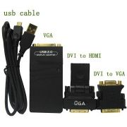 Adaptador Gráfico Usb P/ Vga Dvi Ou Hdmi Full Hd 1920x1080 - RPC-COMMERCE