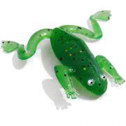 Sapinho de silicone 6,5 cm verde - Kit com 5 iscas - RPC-COMMERCE