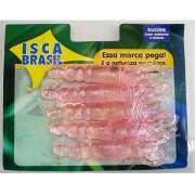 Kit com 5 Corruptos Artificiais de silicone com 8 cm cor rosa - RPC-COMMERCE